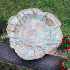 Aged Stone Large Bird Bath-Deck-Mount Option