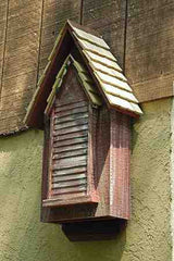 Victorian Bat House in Red-Whitewash