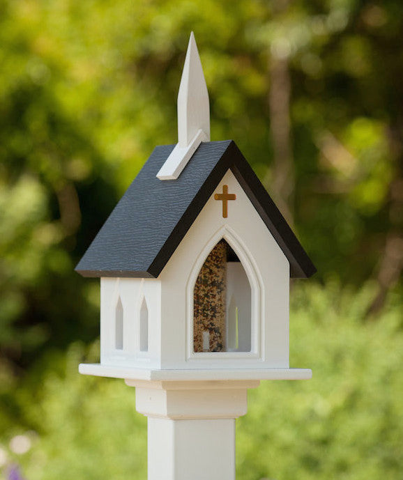 Wonderful Vinyl Church Bird Feeder