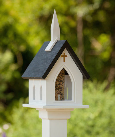 Church Bird Feeder Vinyl/PVC