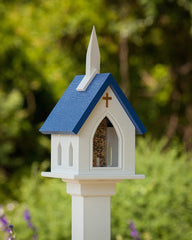 PVC Church Bird Feeder-Post Mounted