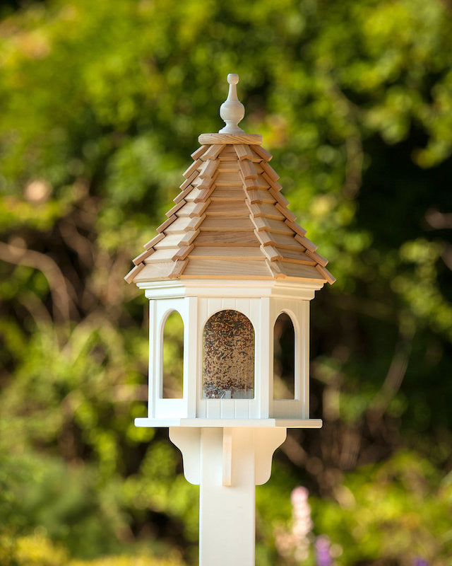 Vinyl Gazebo Post Mounted Bird Feeder