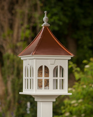 Fancy Gazebo Bird Feeder Vinyl with Copper Roof