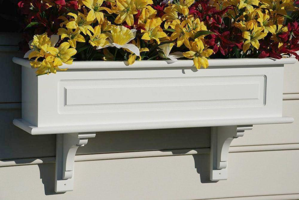 Vinyl Window Box Planters 36-72-inch