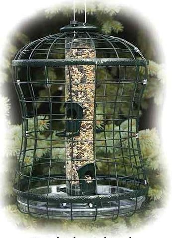 Caged Squirrel Proof BirdFeeder w/ Tray by Woodlink