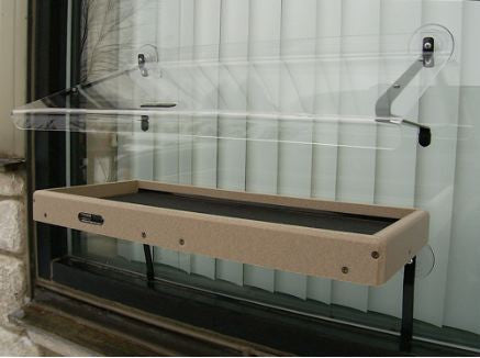 Recycled Window-Mount Platform Feeder w/ Cover by BirdsChoice