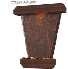 Hanging Slate Wall Fountain- Copper Vein