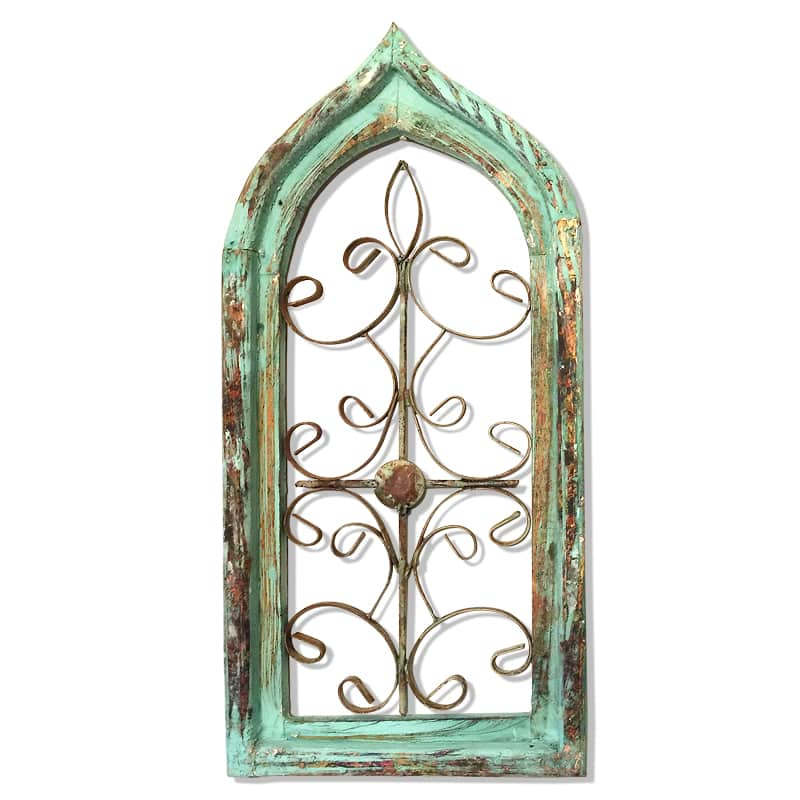 Rustic Window Frame Arch Wall Decor