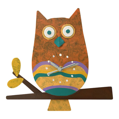 Wise Owl Pendulum Clock