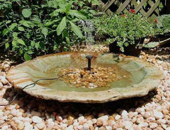 Large Ground Birdbath-Add a Solar Fountain