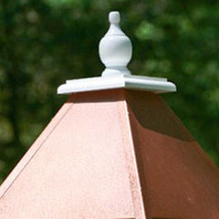 Vinyl Dovecote Birdhouse with Hammered Copper Roof
