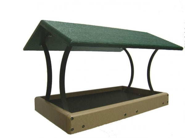 Large Fly Thru Platform Feeder Recycled Plastic The