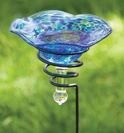 Staked Glass Butterfly Feeder/Bath and Bird Sipper
