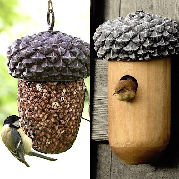 Birdhouse Bird Feeder Gift Set