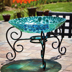 Blossom Birdbath with Stand