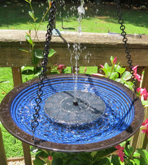 Solar Hanging Bird Bath