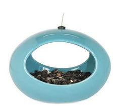 Mod Ceramic Oval Bird Feeder