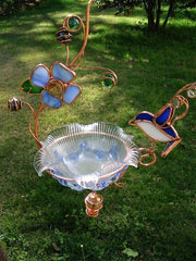 Hanging Dish Feeder & Mini Bath-Bluebird