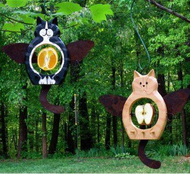 Angel Cats Fruit & Suet Feeder with Suet