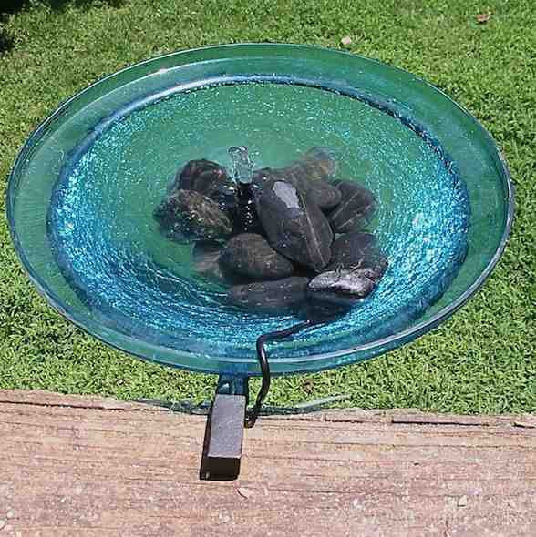 Solar Bubbler Bird Bath Deck Mount Or Ground Stand The