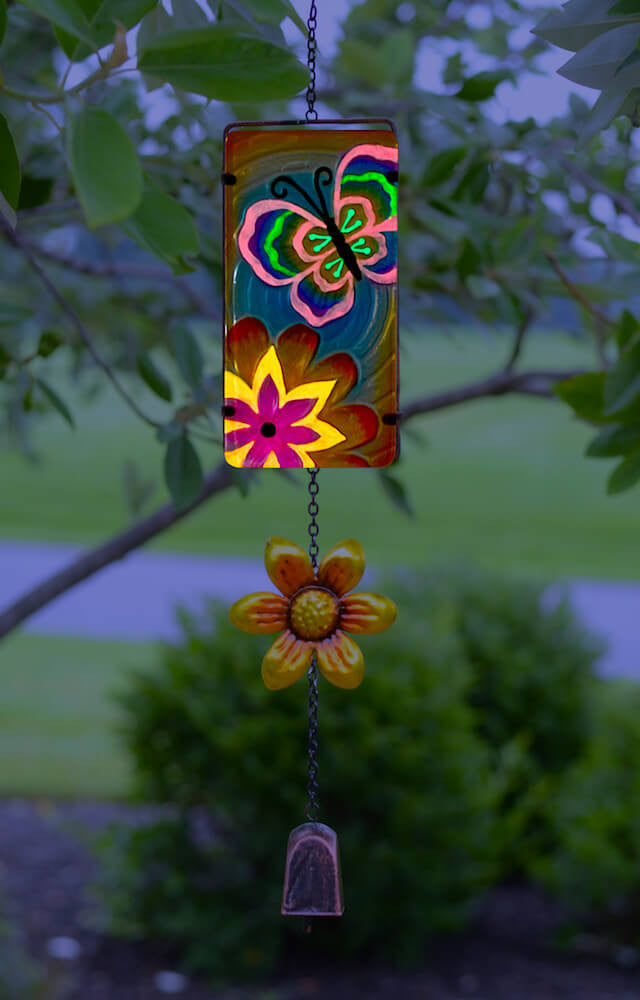 Butterfly Wind Bell Glow in the Dark