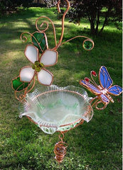Hanging Dish Feeder & Mini Bath-Butterfly