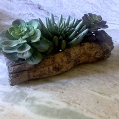 Ceramic Log Planter