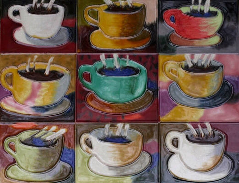 Coffee Cup Decorative Tile 11x14