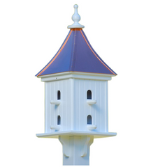 Copper Roof Dovecote Birdhouse with 8 Compartments-Perches