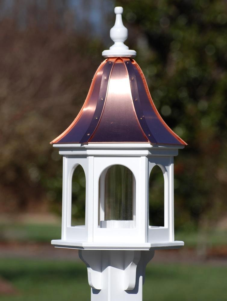 Copper Roof Bird Feeder in Vinyl/PVC-Bright Copper