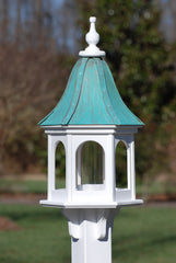 Copper Roof Bird Feeder in Vinyl/PVC-Patina Copper