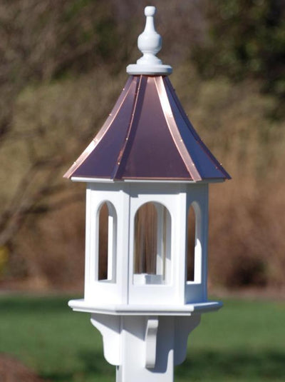 "Copper Roof Bird Feeder-Vinyl 28"" Gazebo Bright Copper"