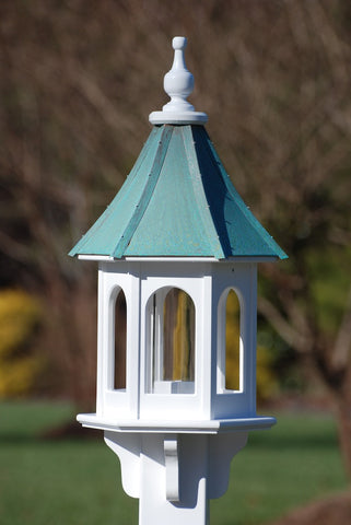Copper Roof Bird Feeder-Vinyl/PVC 28x10