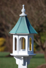 "Copper Roof Bird Feeder-Vinyl 28"" Gazebo Patina Copper"