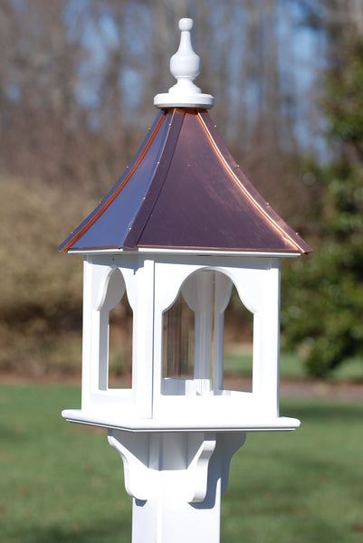 Copper Roof Bird Feeder Vinyl Bird Feeders Post Mount