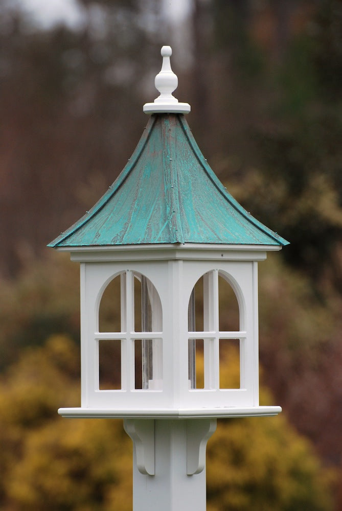 Copper Roof Bird Feeder-Vinyl-PVC 28x12 Square Patina