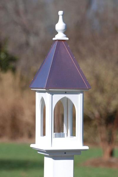 Copper Roof Bird Feeder Copper Vinyl Bird Feeders Post