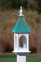 Copper Roof Bird Feeder-Vinyl/PVC-Patina Copper