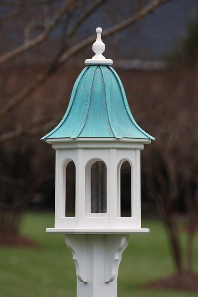 Copper Roof Bird Feeder In Vinyl Pvc Large Gazebo Feeder