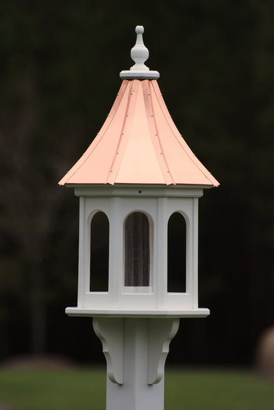 Large Gazebo Copper Roof Bird Feeder