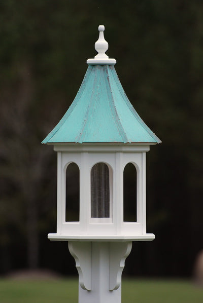 "Copper Roof Bird Feeder-Vinyl 36"" Slope Roof"