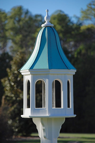 copper roof bird feeder vinyl/pvc-42x16 Patina