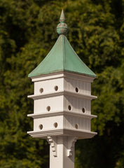 Copper Roof and Vinyl Purple Martin Birdhouse