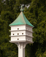 Copper and Vinyl Martin Mansion Birdhouse- Patina Finish