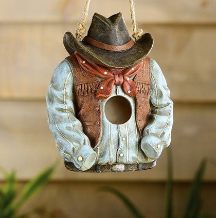 Fun Cowboy Birdhouse Sans The Cowboy Durable Resin The