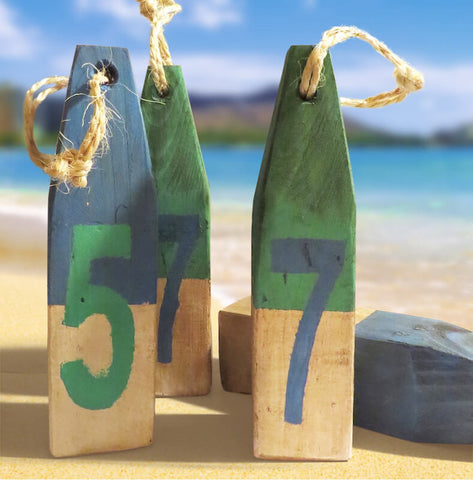 Lake Life Wood Buoy Set