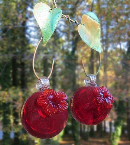 Double Cherry Hummingbird Feeder