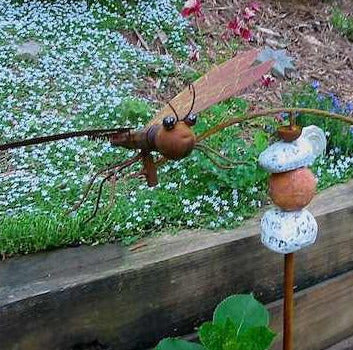 Large Dragonfly Kinetic Garden Stake The Birdhouse Chick