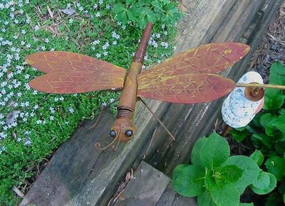 Large Dragonfly Kinetic Garden Stake