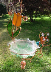 Hanging Dish Feeder & Mini Bath-Dragonfly